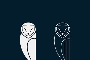 Vector of an owls design. Bird.