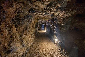 Tunnel interior in the famous mines
