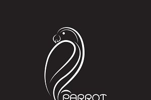 Vector of a parrot design. Bird.
