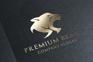 Premium Panther Logo Vector/Mock-Up