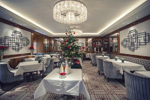 classic restaurant in winter season