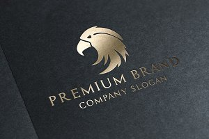 Premium Eagle Logo & Mock-Up Vector
