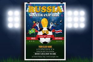 Football Word Cup Flyer - V815