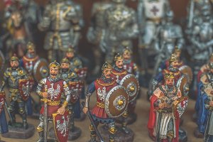 Figurines of knights