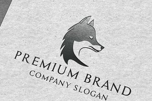 Premium Fox Logo & Mock-Up Vector