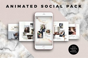 ANIMATED Artistic Social Media Pack