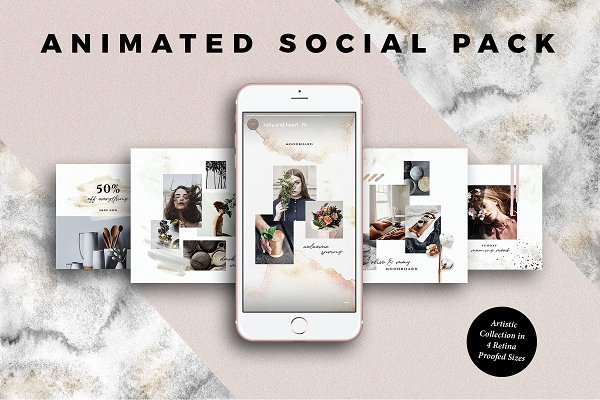 Templates: Ruby&Heart Studio - ANIMATED Artistic Social Media Pack