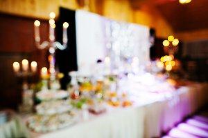 Blured effect of elegance wedding re