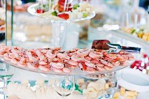 Elegance wedding reception table wit
