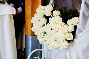 Bunch of flowers, bouquet of 101 whi