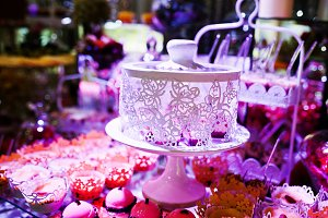 Elegance wedding reception table wit