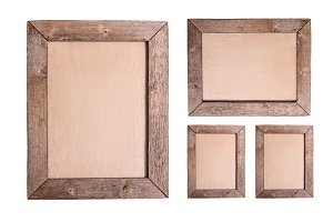 Set of Antique wood frames