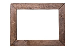 Antique wood frame