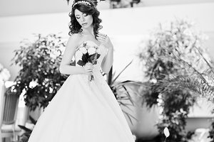 Charming red-haired bride