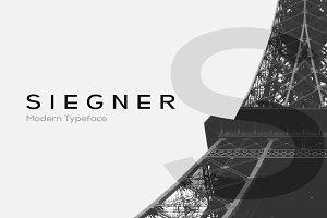 SIEGNER - Modern Typeface + WebFont