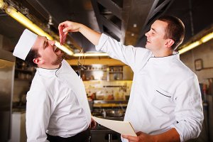 Chefs have fun