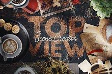 Coffee Scene Creator - Top View