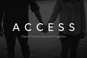 ACCESS - Modern Typeface + Web Fonts