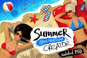 Summer illustration creator