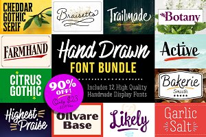 Hand Drawn Display Font Bundle