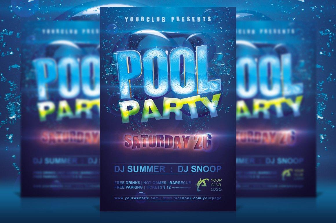 pool party flyer flyer templates creative market