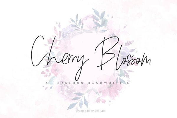 Fonts: Chocotype - Cherry Blossom Script