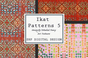 Ikat Ethnic Pattern Set 5