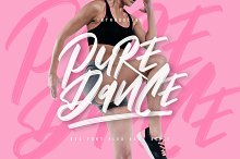 Pure Dance - SVG Font by  in Script Fonts