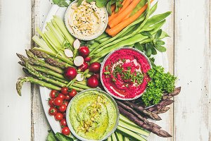 Healthy summer vegan snack plate for