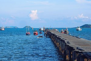 Old fishing dock in Thailand
