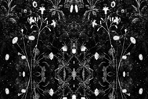 Dark Floral Collage Seamless Mosaic