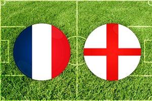 England vs Russia football match