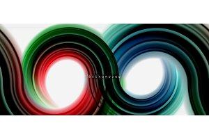 Rainbow fluid color line abstract