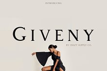 Giveny - Classy Serif Font by  in Serif Fonts
