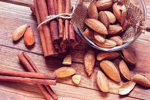 almonds and cinnamons