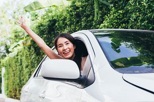 Young Happy Asian woman smiling and
