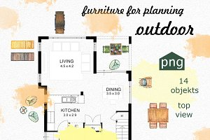 Furniture for planning. Outdoor.