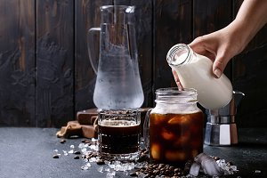 Home made iced coffee