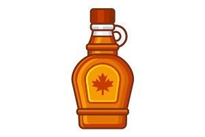 Maple Syrup Bottle Icon