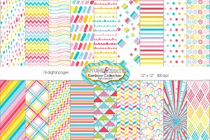 18 Rainbow Collection  Papers
