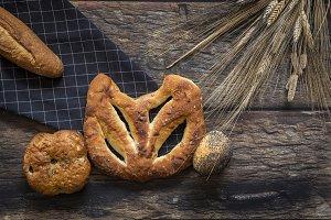 Assortment of fresh breads