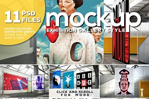 Gallery Exhibition Poster Mockups