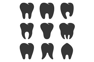 Teeth Type Icons Set