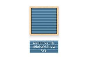 Blue letter board
