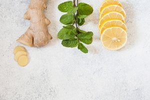 Ingredients for herbal medicine lemo