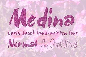 Medina Brush Font