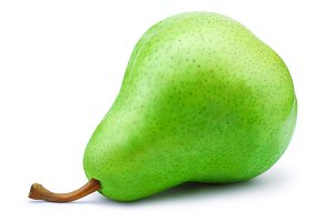 Fresh green pear isolated on white