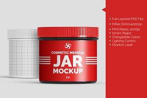 Cosmetic Medical 2oz Jar Mockup