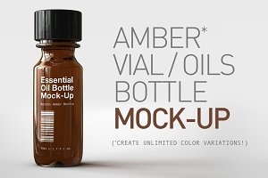 Essential Oils Bottle | Vial Mock-Up