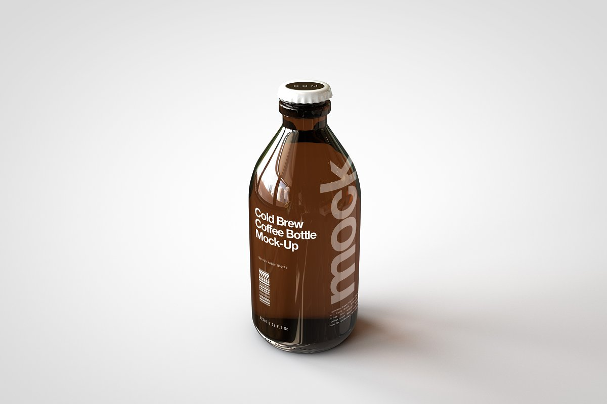 Cold Brew Coffee Bottle Mock-Up | Creative Product Mockups ...